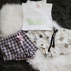 Victoria's Secret Pajama Sleep Shorts Bundle